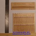 PL8012 - Dřevěný plot - prkna s ozdobnými konci - H0