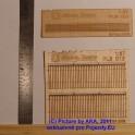 PL8013 - Dřevěný plot - prkna s ozdobnými konci - H0