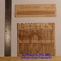 PL8014 - Dřevěný plot - prkna se špičatými konci - H0