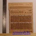 PL8016 - Dřevěný plot -  H0