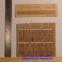 PL8015 - Dřevěný plot - vylámaná prkna starého plotu - H0