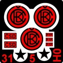 H0 - Tabulky ČKD + ČSD (červené)