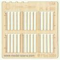 0 - Prkenný plot - užší prkna, šikmý řez (2ks)